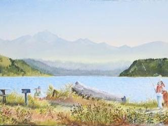 """Picinic at the Beach 13 X 41"""""""